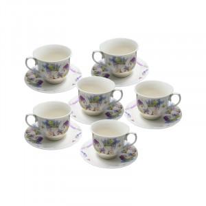 Set 6 cesti ceai Lavender, Portelan, 150 ml