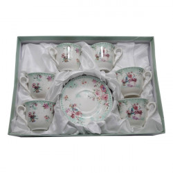 Set expresso 6 persoane floral