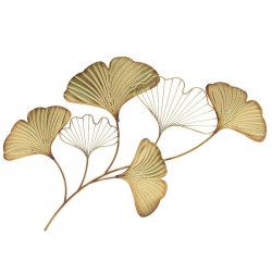 Decoratiune de Perete Golden Leaves, Metal, Charisma, 55X2X85