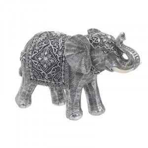 Decoratiune rasina Grey Elephant, 25x9x17
