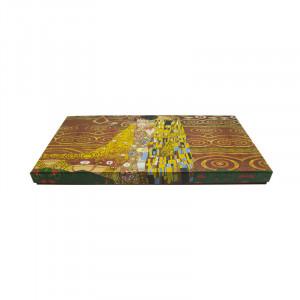 Platou oval Klimt Kiss, Portelan, Charisma, 34x14x2 cm