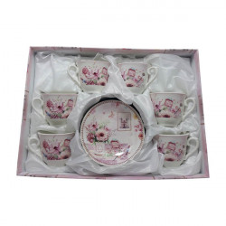 Set expresso 6 persoane Aromatic Flowers