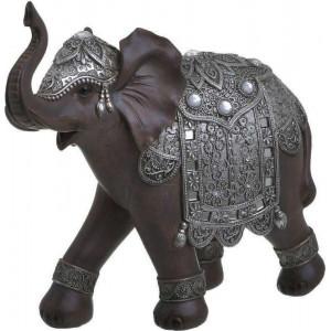 Decoratiune Brown Elephant, Charisma, Rasina, 25X10X24