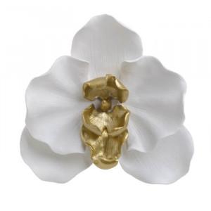Decoratiune perete Golden Flower, Rasina, 30x7.5x29.5