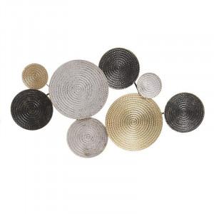 Decoratiune perete Spiral Disks, Charisma, Metal, 158Χ8Χ76