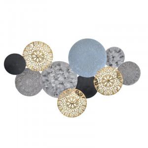 Decoratiune perete Zen Disks, Charisma, Metal, 113Χ5Χ60