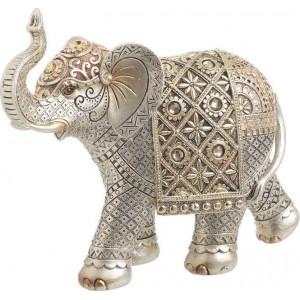 Elefant Rasina, Silver/Gold, Charisma, 22Χ8Χ19