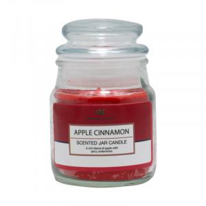 Lumanare decorativa borcan, Apple&Cinnamon, 20h