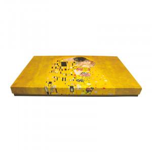 Set de tort Klimt Gold, Portelan, Charisma, 33x24x3cm