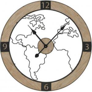 Ceas de perete Global Hour, Charisma, Lemn&Metal, D60X5