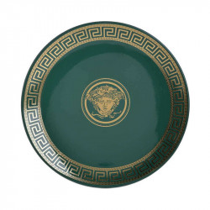 Platou decorativ Green Athena, Charisma, Ceramic, Φ34