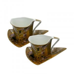 Set 2 cani Klimt Romance, Portelan, Charisma, 200 ml
