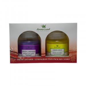 Set 2 lumanari decorative, Lavender&Lemon grass, 20h