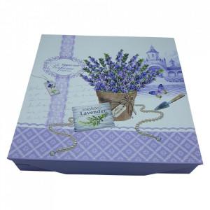 Set linguri si furculite 6 persoane Lavender, Inox&Portelan