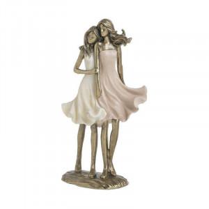 Statueta Mother&Daughter, Charisma, Rasina, 14Χ8Χ25