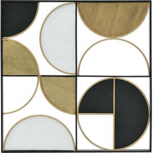 Decoratiune de perete Semi Circles, Charisma, Metal, 60Χ3Χ60