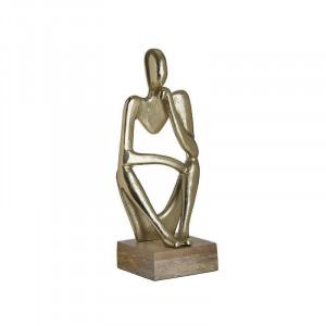 Statueta decorativa The Thinker, Metal, Charisma, 15Χ11Χ37