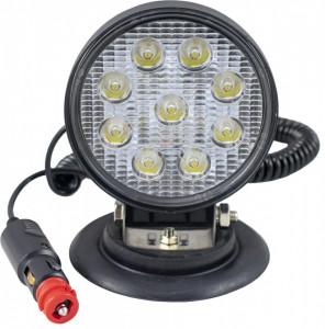 Proiector de lucru cu led, rotund, lumină concentrată, bază magnetică