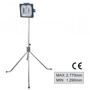 Stativ cu 3 picioare gri pentru lampa de control