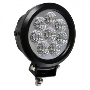 Proiector cu 8 leduri la 80w rotund, lumină dispersă