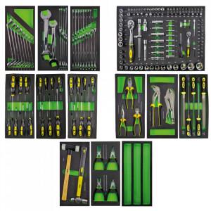 Set Complet de 5 Sertare cu Instrumente pentru Carucior de Scule, JBM