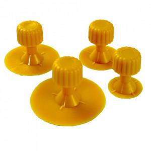 Set cu 4 suporturi galbene