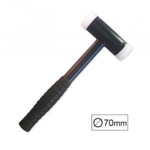 Ciocan din Plastic fara Recul cu Maner din Cauciuc, Diametru 70 mm, JBM