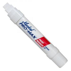 Marker cu Vopsea Lichida, Varf Lat, Uscare Rapida, Recomandat pentru Majoritatea Suprafetelor, Pro-Max, Markal