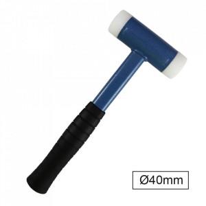Ciocan din Plastic fara Recul cu Maner din Cauciuc, Diametru 40 mm, JBM