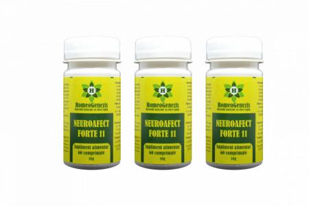 Neuroafect Forte 11 - 3 x 60 comp - Pachet Economic