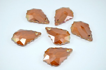Baroque Pendant, Crystal Copper, 50 mm