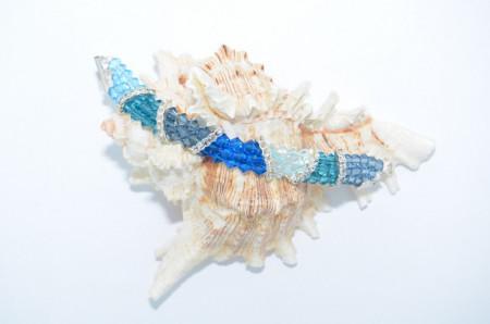 Bratara 3 randuri cu cristale SWAROVSKI ELEMENTS