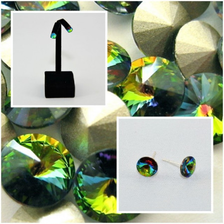 Cercei surub cu cristale SWAROVSKI ELEMENTS - Vitral Medium