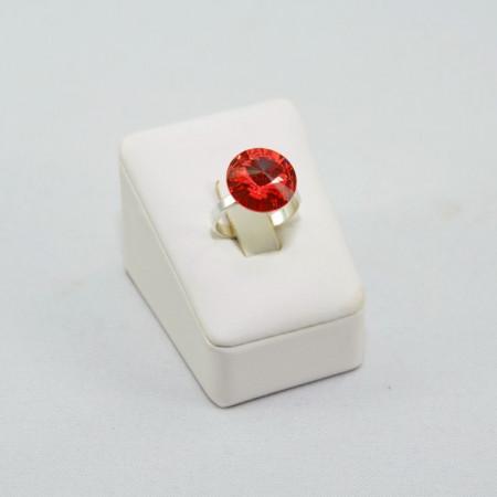 Inel cu cristal SWAROVSKI ELEMENTS -  Padparadscha
