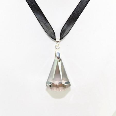 XIRIUS Raindrop Pendant, Crystal Satin, 33/24 mm
