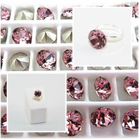 Inel cu cristal SWAROVSKI ELEMENTS - Antique pink