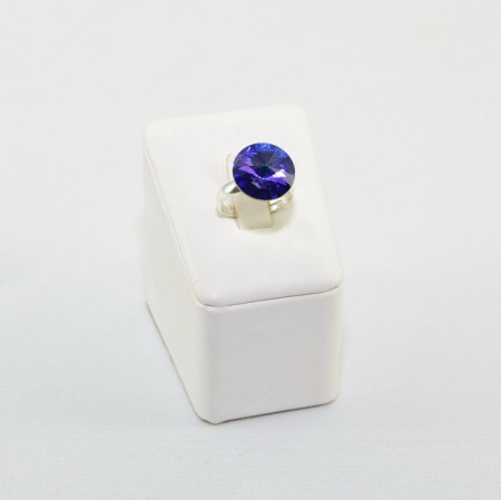 Inel cu cristal SWAROVSKI ELEMENTS - Heliotrope