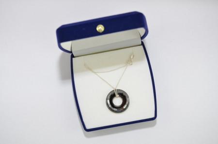 Ring Pendant, Silver Night, 25 mm