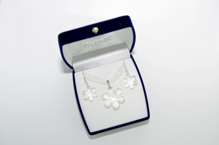 Snowflake Pendant, Crystal, 20/30 mm