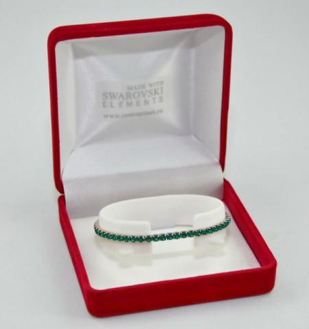 STRETCH BRACELET SWAROVSKI ELEMENTS - emerald