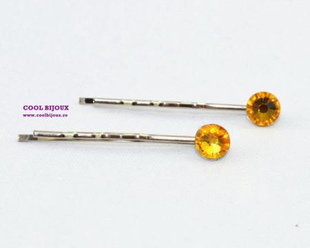 Agrafe de par cu cristale SWAROVSKI ELEMENTS - sun flower