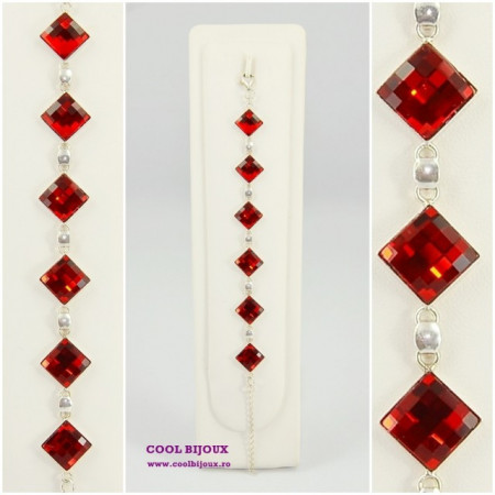 Bratara cu cristale SWAROVSKI ELEMENTS - Light Siam