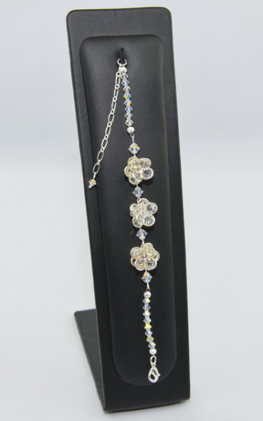 Bratara FLOWER cu cristale SWAROVSKI ELEMENTS