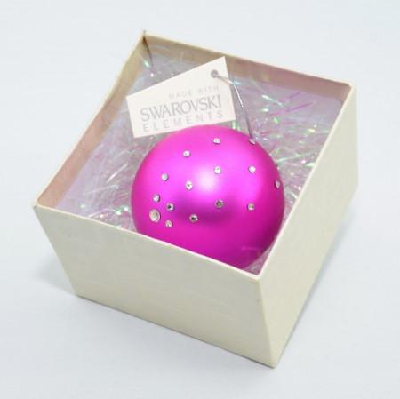 Glob cu cristale SWAROVSKI ELEMENTS - ciclam - 58 mm