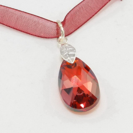 Pear Pendant, Red Magma, 22 mm