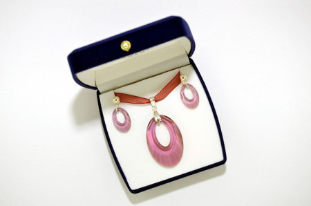 Helios Pendant, Antique Pink, 20/40 mm