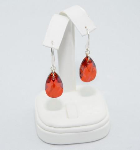 Cercei cu cristale SWAROVSKI ELEMENTS - red magma