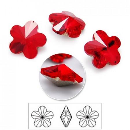 Cercei surub cu cristale SWAROVSKI ELEMENTS - Light Siam