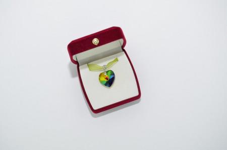 Heart Pendant, Crystal Vitral Medium, 18 mm