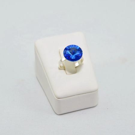 Inel cu cristal SWAROVSKI ELEMENTS -  Sapphire